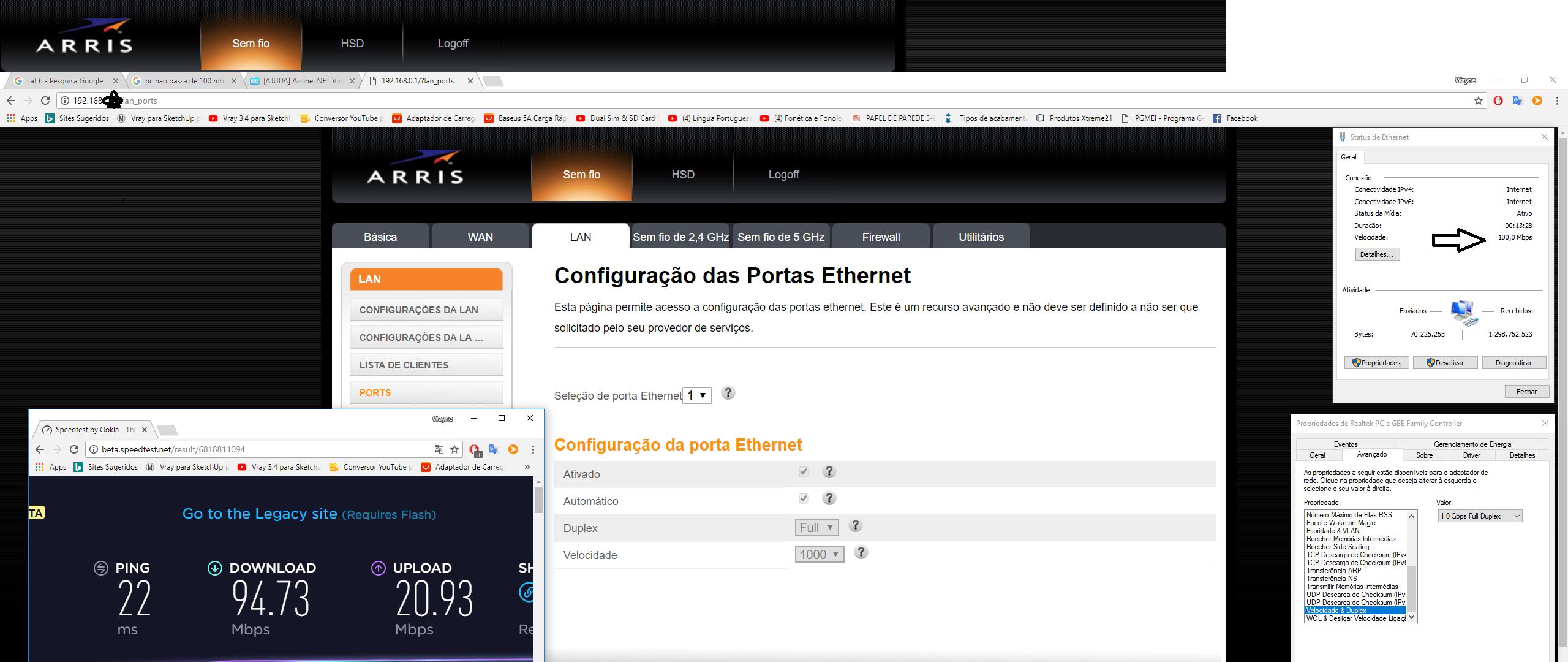 NET   NET Vírtua 20 Mega , não consigo baixar a mais de 20 mbs ...