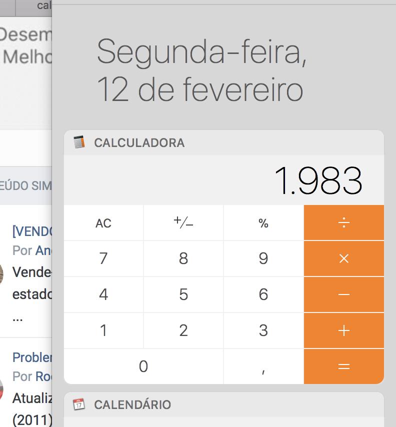 9,97 e o mistério da calculadora - [Mac] OS X - MM Fórum